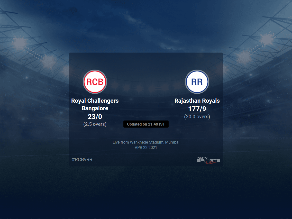 Royal Challengers Bangalore vs Rajasthan Royals live score over Match 16 T20 1 5 updates | Cricket News