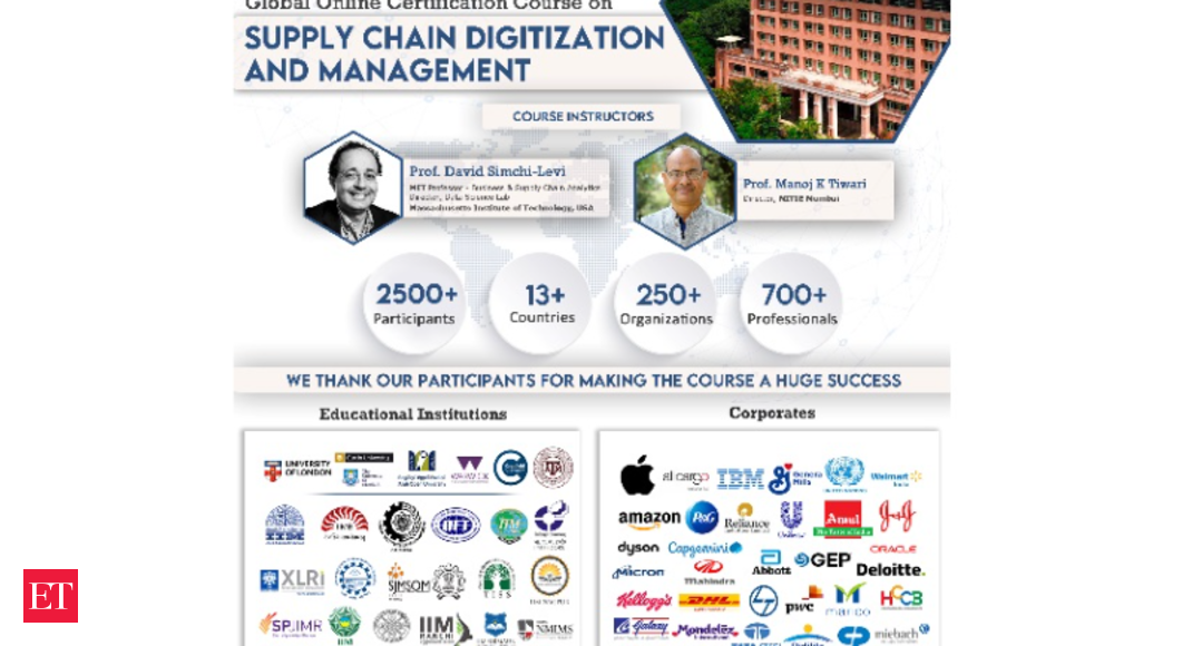 NITIE, Mumbai successfully completes the 30 Hour Global Online Certification Course on Supply Chain Digitization and Management for 2500+ Participants